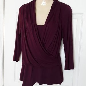 Jennifer Lopez Tops - Jennifer Lopez purple blouse Size XS Super soft!